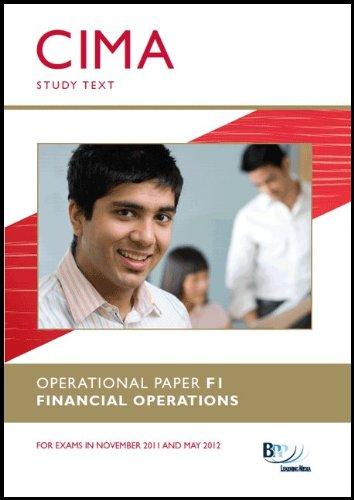 9780751784602: CIMA - F1: Financial Operations: Study Text