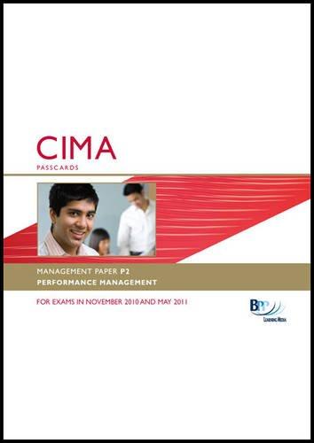9780751784916: CIMA - P2: Performance Management: Management paper P2: Passcards