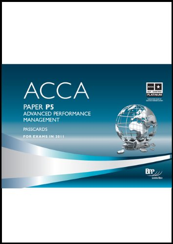 9780751789041: ACCA - P5 Advanced Performance Management: Passcards