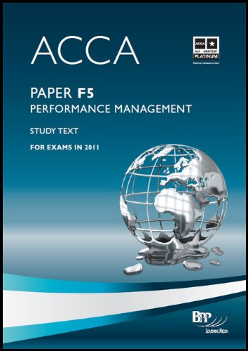 9780751789218: Acca - F5 Performance Management: Study Text