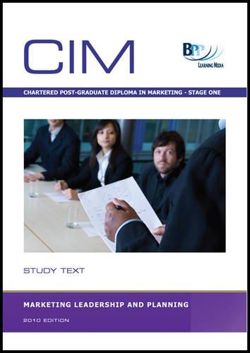 9780751789454: CIM - Marketing Leadership and Planning: Study Text