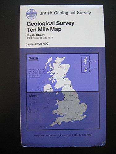 9780751812169: British Geological Survey 10 Mile Maps: Britain: North