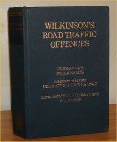 Wilkinson's Road Traffic Offences: v. 1 (9780752001869) by G.S. Wilkinson