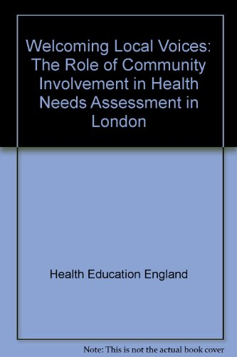 Welcoming Local Voices: The Role of Community: Health Education Authority