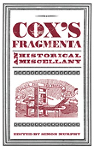 9780752463292: Cox's Fragmenta: An Historical Miscellany