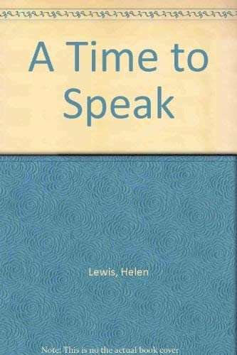 9780753196762: A Time to Speak