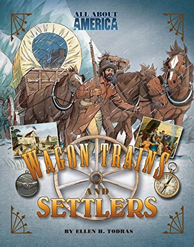 9780753465837: All About America: Wagon Trains and Settlers