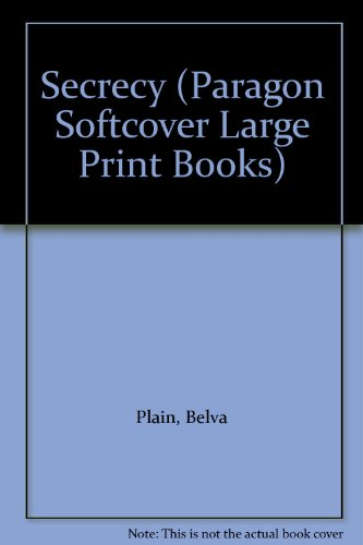 9780754020622: Secrecy (Paragon Softcover Large Print Books)