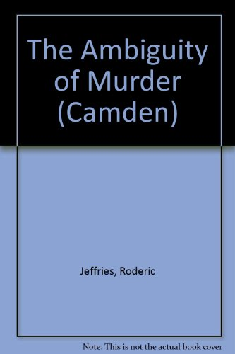 9780754045052: The Ambiguity of Murder (Camden)