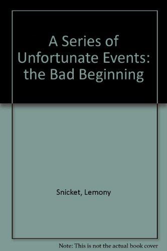 lemony snicket the bad beginning pdf