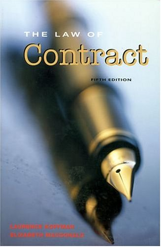 9780754524458: The Law of Contract