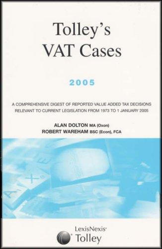 9780754528890: Tolley's VAT Cases 2005