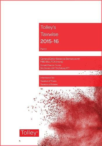 Tolley's Taxwise II 2015-16: Pearce-Crump, Donald