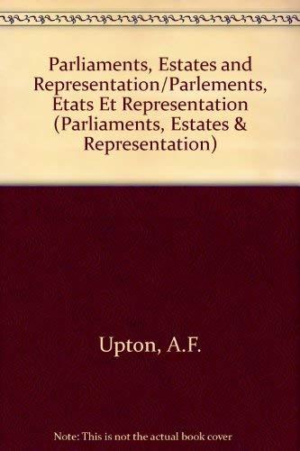9780754603351: Parliaments, Estates and Representation/Parlements Etats Et Representation