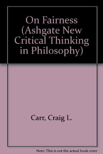 9780754612988: On Fairness (Ashgate New Critical Thinking in Philosophy)