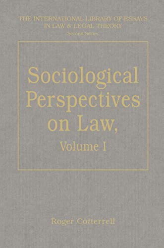 9780754621287: Sociological Perspectives on Law, Volumes I and II: Volume I: Classical Foundations Volume II: Contemporary Debates (The International Library of Essays in Law and Legal Theory (Second Series))