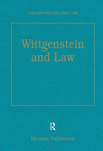 9780754622550: Wittgenstein and Law (Philosophers and Law)