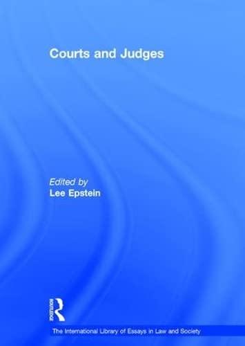 Courts and Judges (Hardback)
