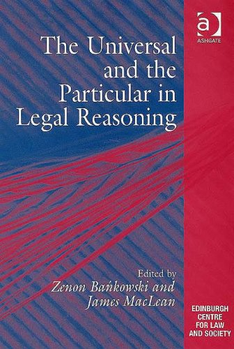 9780754625469: The Universal and the Particular in Legal Reasoning