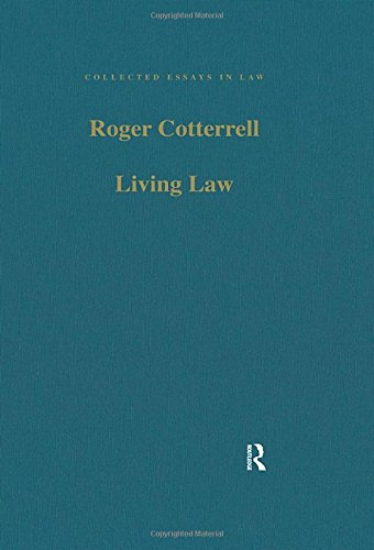 9780754627104: Living Law: Studies in Legal and Social Theory (Collected Essays in Law)