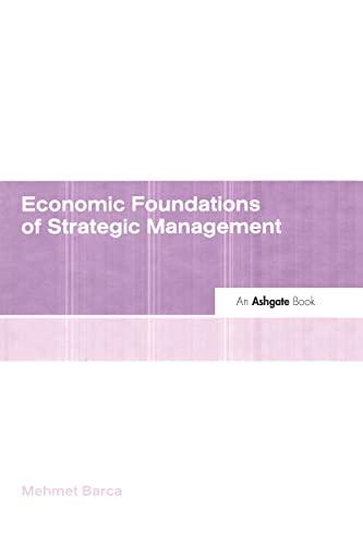 Economic Foundations of Strategic Management: Mehmet Barca