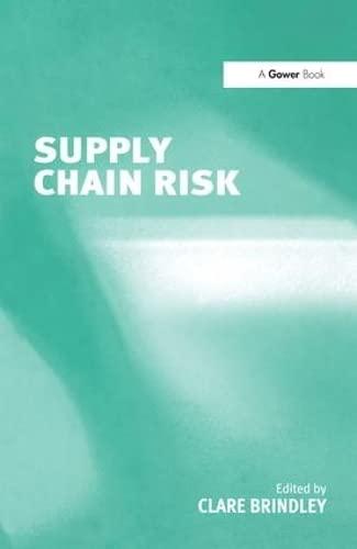 9780754639022: Supply Chain Risk