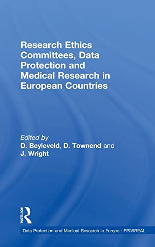 9780754643500: Research Ethics Committees, Data Protection and Medical Research in European Countries (Data Protection and Medical Research in Europe : PRIVIREAL)
