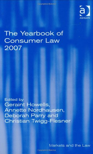 The Yearbook of Consumer Law 2007 (Markets