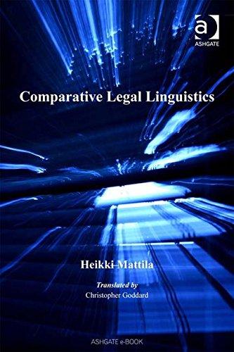 9780754648741: Comparative Legal Linguistics