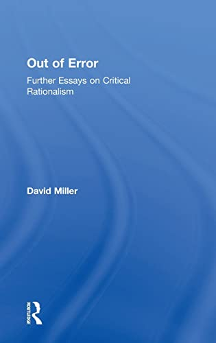 9780754650683: Out of Error: Further Essays on Critical Rationalism