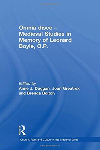 Omnia Disce: Medieval Studies in Memory of: Anne J. Duggan