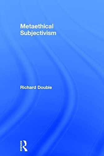 9780754654179: Metaethical Subjectivism
