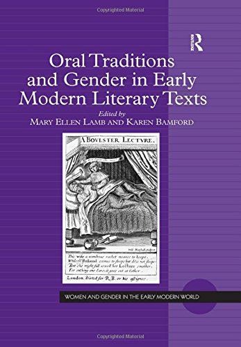 9780754655381: Oral Traditions and Gender in Early Modern Literary Texts