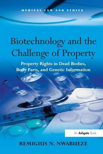 9780754671688: Biotechnology and the Challenge of Property: Property Rights in Dead Bodies, Body Parts, and Genetic Information (Medical Law and Ethics)