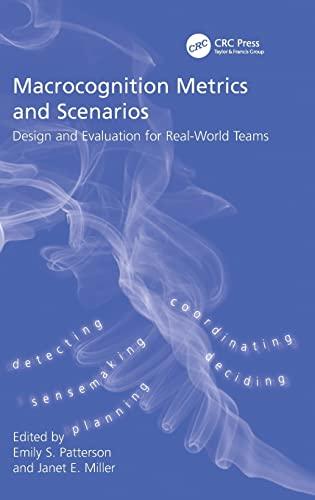 9780754675785: Macrocognition Metrics and Scenarios