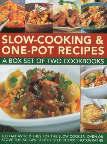 9780754823643: Slow-Cooking & One-Pot Recipes: A box set of two cookbooks: 400 fantastic dishes for the slow cooker, oven or stove top, shown step by step in 1700 photographs