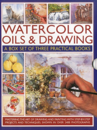 9780754823810: Watercolor Oils & Drawing Box Set: Mastering the Art of Drawing and Painting with Step-By-Step Projects and Techniques Shown in Over 1400 Photographs