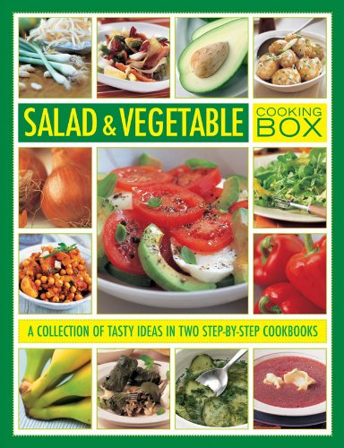 Salad and Vegetable Cooking Box: A Collection of Tasty Ideas in Two Step-By-Step Cookbooks: Wheeler...