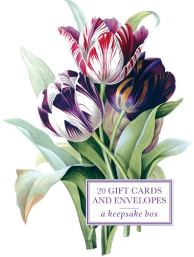 9780754826033: Tin Box of 20 Gift Cards and Envelopes: Redoute Tulip: A keepsake tin box featuring 20 high-quality fine-art gift cards and envelopes