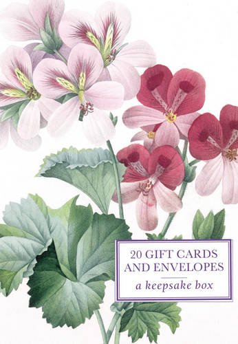 9780754826088: Tin Box of 20 Gift Cards and Envelopes: Redoute Geranium: A keepsake tin box featuring 20 high-quality fine-art gift cards and envelopes