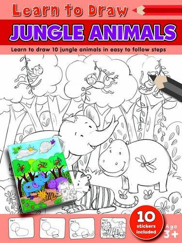 Jungle Animals Learn to Draw: Learning to Draw Activity Book