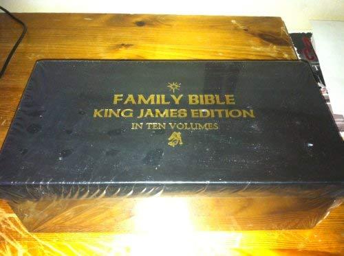 9780755439706: Family Bible King James Edition in Ten Volumes (Bath Classics)