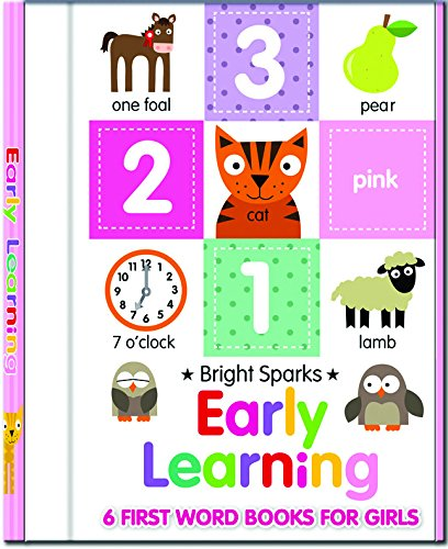 9780755494316: Early Learning - 6 First Word Books For Girls (Early Learning Board Book Sets)