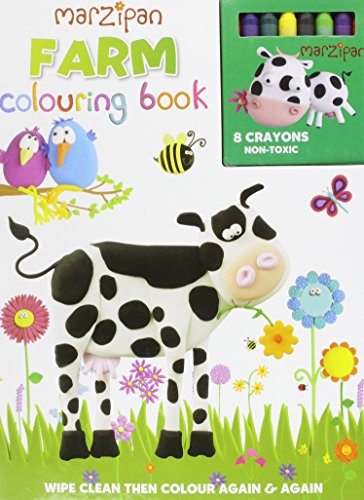 9780755497577: Farm Wipe Clean Coloring Book [With 8 Crayons] (Marzipan)
