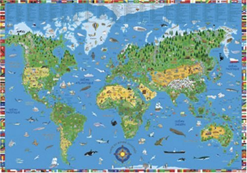 9780755808069: Illustrated Children's World Map (World Wall Maps)