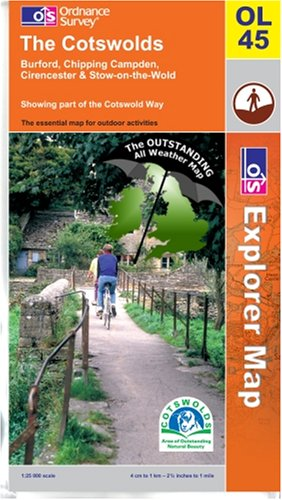 9780755818907: The Cotswolds ~ Explorer OL45 (The Outstanding All Weather Map)