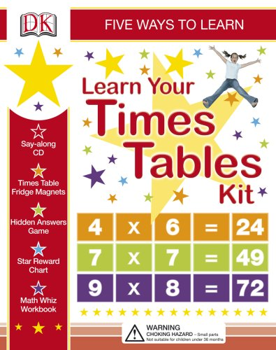 9780756619824: Learn Your Times Tables Kit: Five Ways to Learn [With Stickers and Game and Workbook and CD (Audio) and Wall Chart and Magnets]