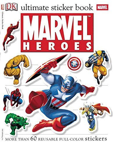 9780756620004: Marvel Heroes [With More Than 60 Reusable Full-Color Stickers] (Ultimate Sticker Books)