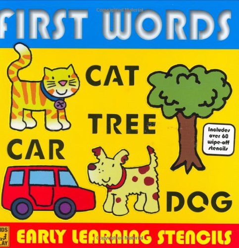 9780756629229: Early Learning Stencil Books: First Words