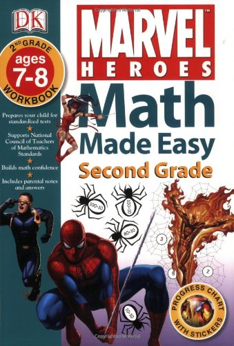 Marvel Heroes: Second Grade (Math Made Easy)